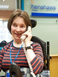 Image of Rachel on telephone
