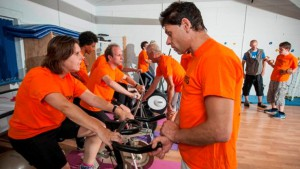 Training session for Henshaws Triathlon Team