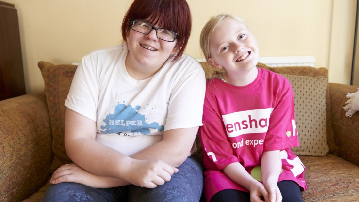 Image of Alicia and Beth - fundraiser and volunteer
