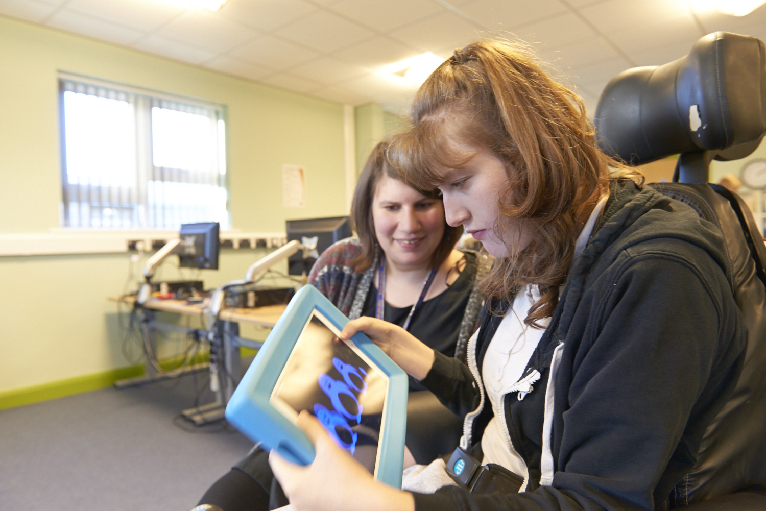 Using an iPad in our accessible IT suite