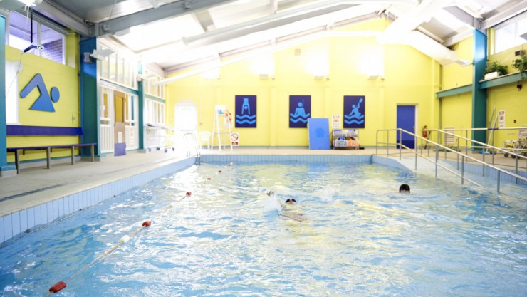Swimming pool facilities at Henshaws Specialist College in Harrogate