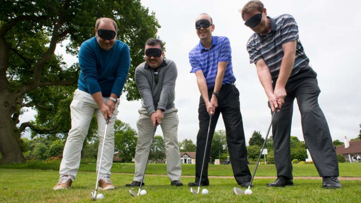 Golf players at Henshaws Golf Day
