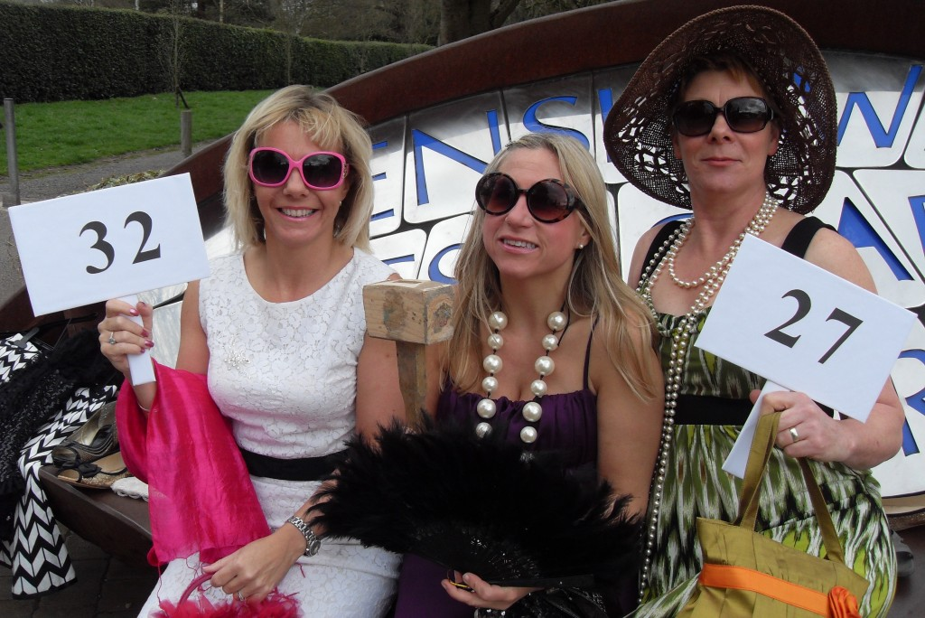 Image of Claire and friends at fashion show