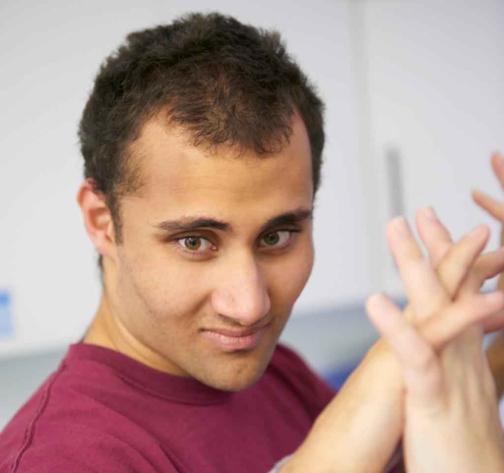 Student Jamie in the autism centre