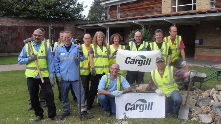 Cargill in the garden
