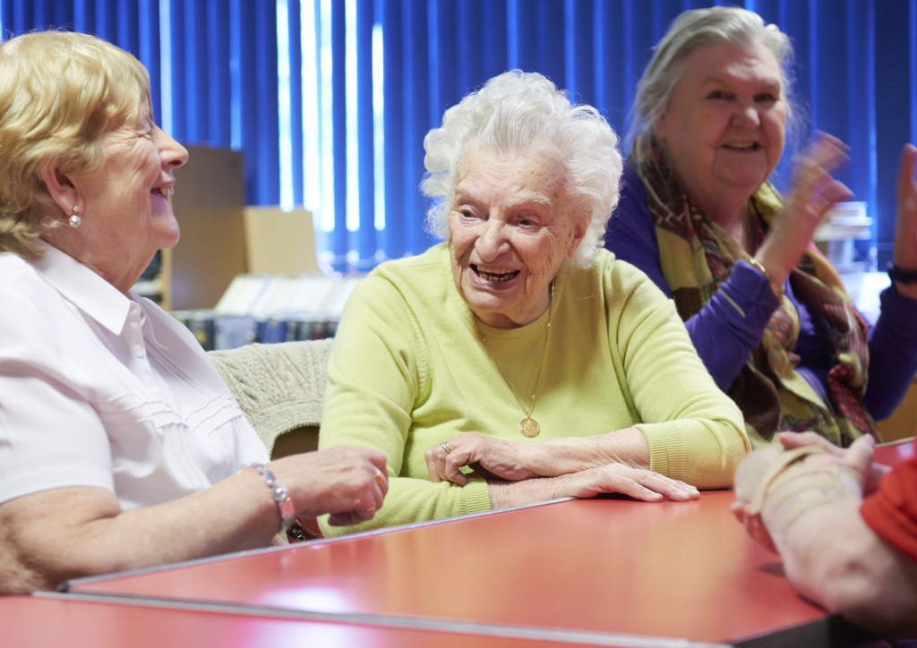Service users socialising at a group