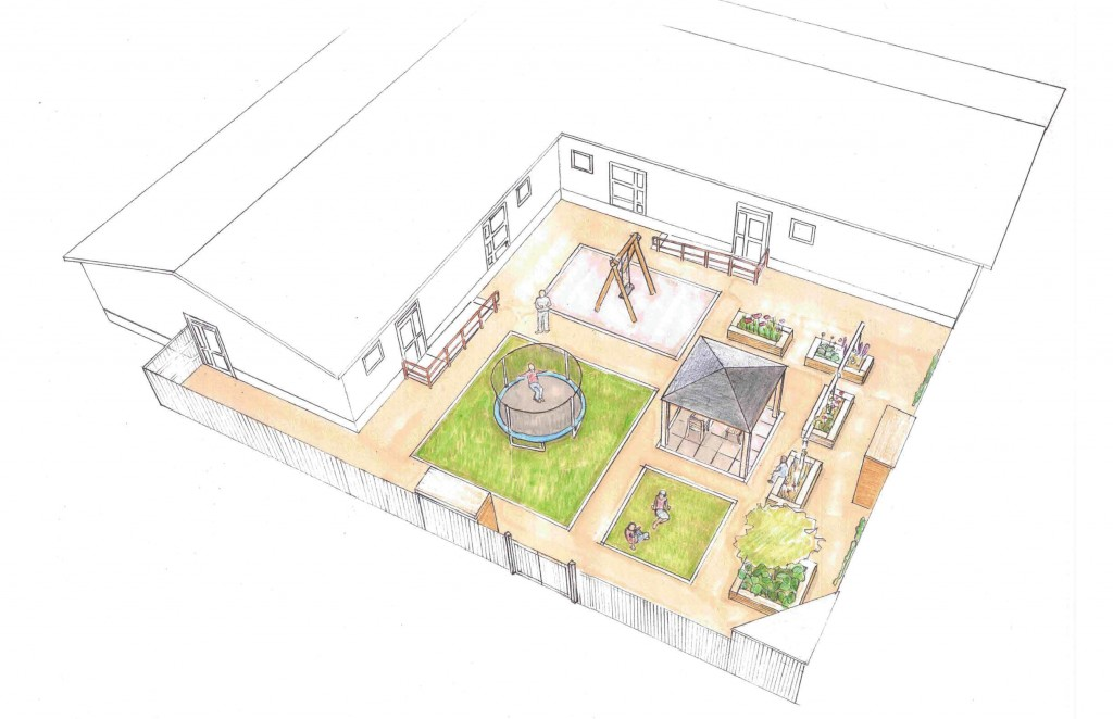 Artists impression of The Starting Point sensory garden