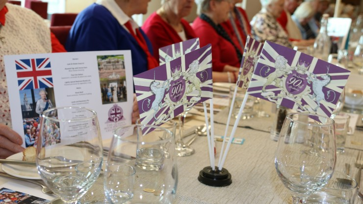Image of the themed table at Luncheon Club