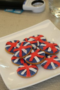 Biscuits with Union Jack decorations