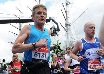 Rob running the marathon