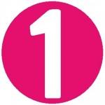 1 in circle