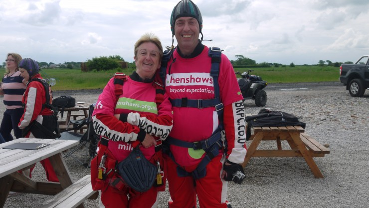 Roy and Maria skydive