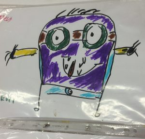 Wesley's design for a purple minion