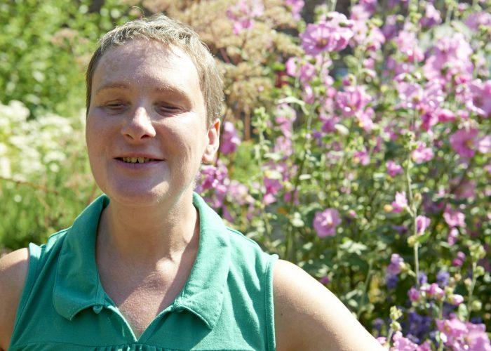 Sam in the Arts & Crafts garden
