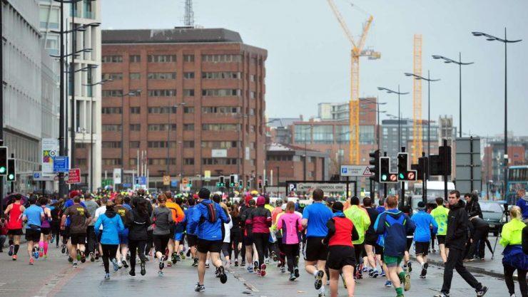 Runners at Liverpool Half Marathon