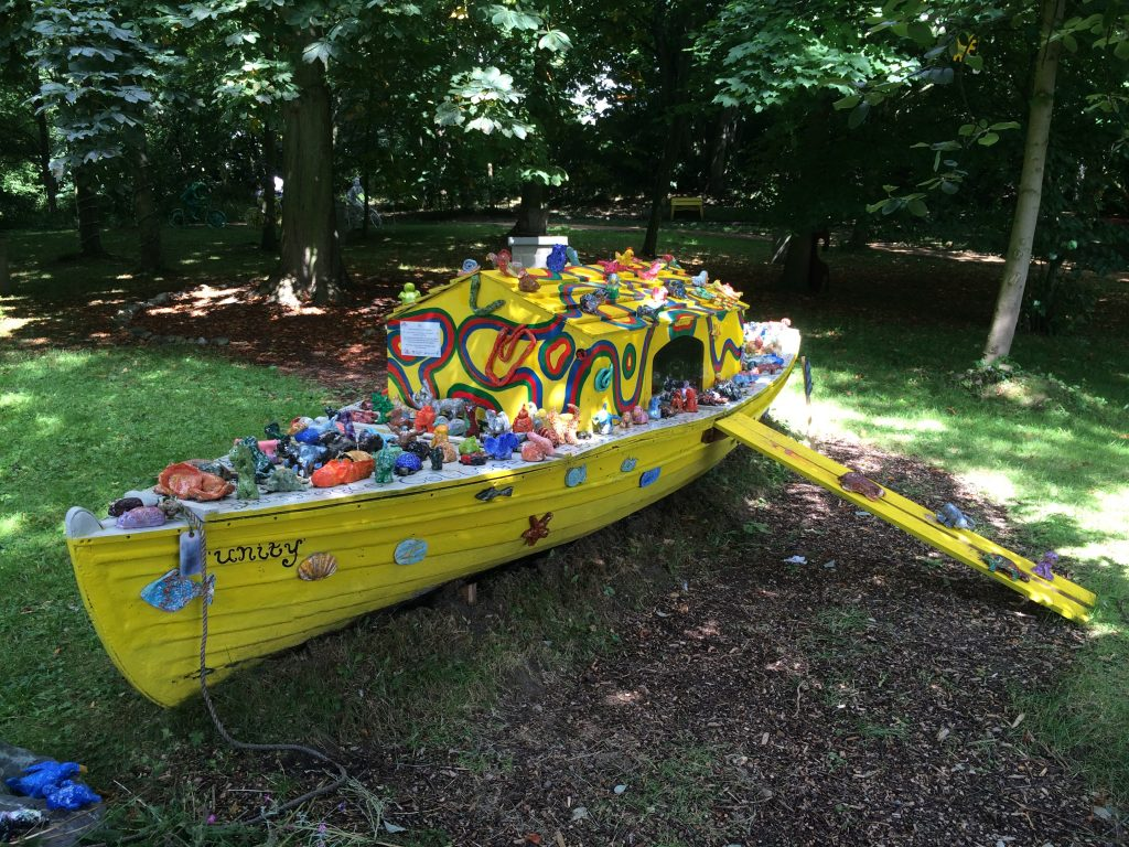 Colourful sculpture of an ark created by community groups