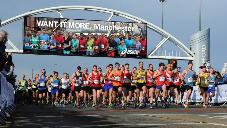Image of runners leaving the start line at Want It More, Manchester.