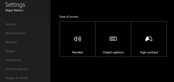 Xbox One Accessability