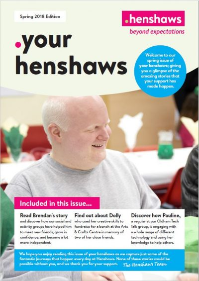 Your Henshaws Spring 2018 front page