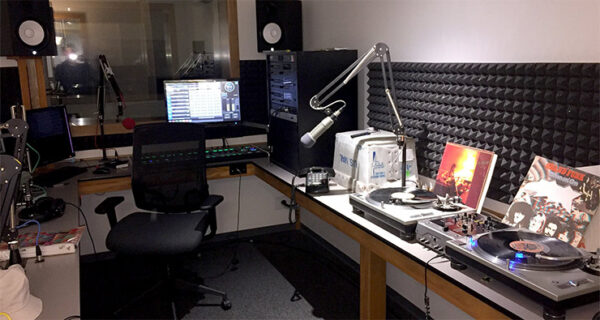 Photo of a Radio DJ Booth