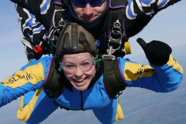 Henshaws Charity Skydiver