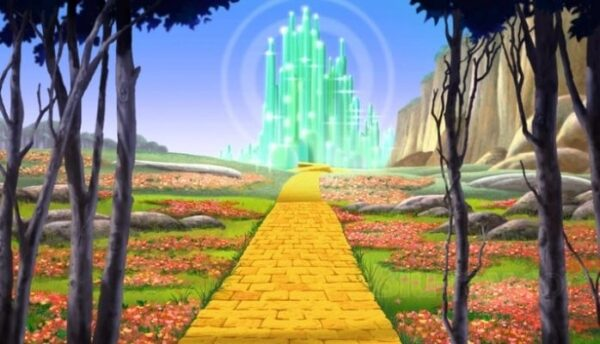 The Yellow Brick Road from 'The Wizard of Oz'