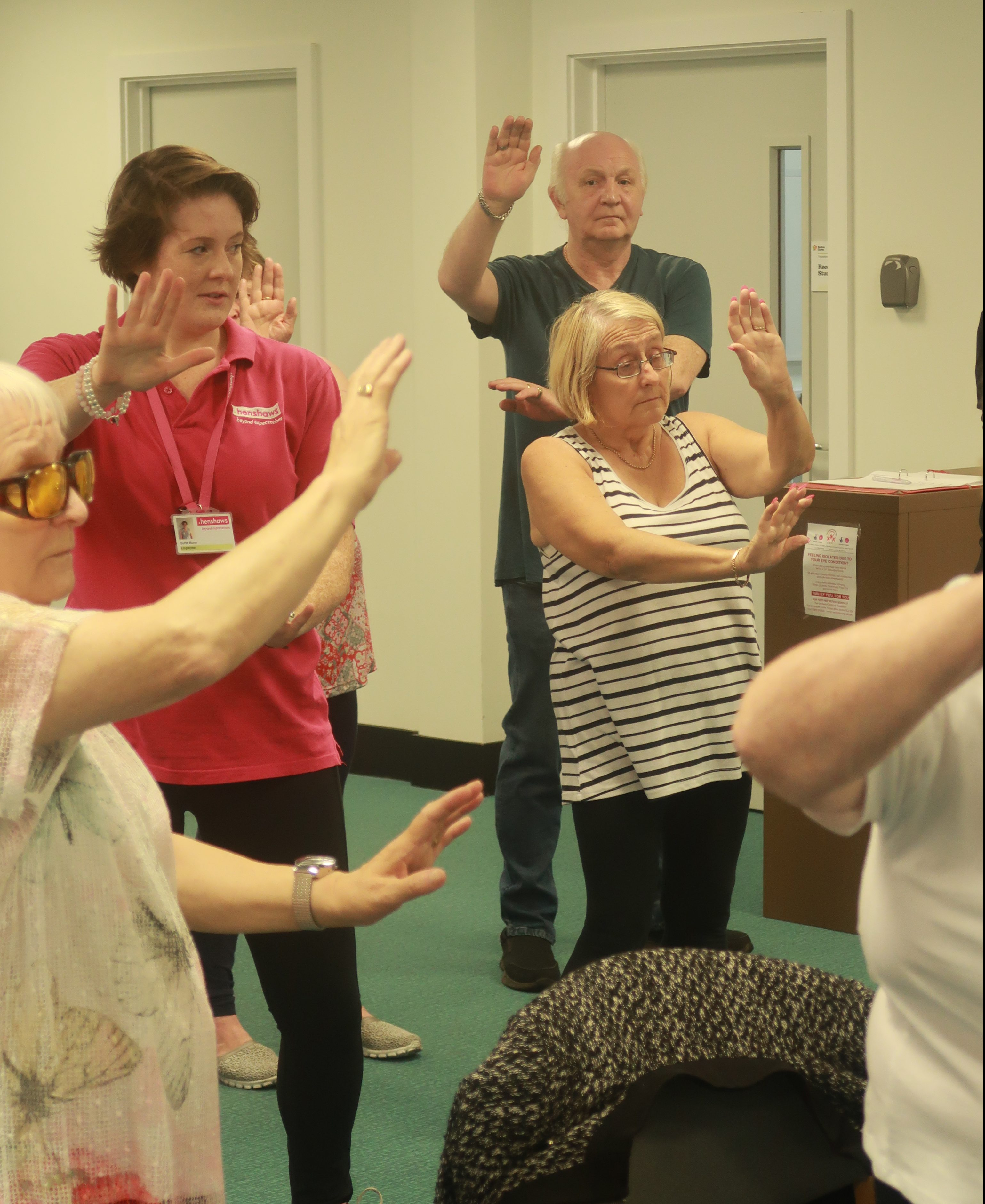 Susan taking part in Tai Chi in Bolton