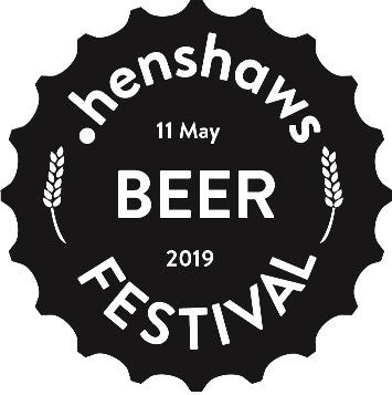 Henshaws Beer Festival logo for web black and white