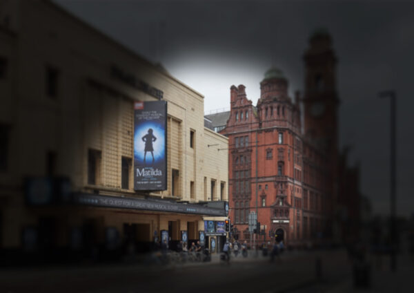 The Palace Theatre and Principle Hotel as seen by somebody with Glaucoma