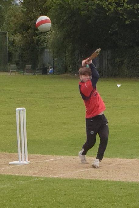 Batsman hits Size 3 ball