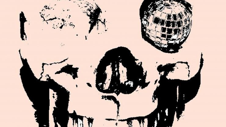 Abstract skull image with disco ball in eye socket