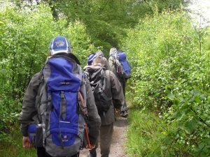 Students on a walk as part of a Duke of Edinburgh silver award