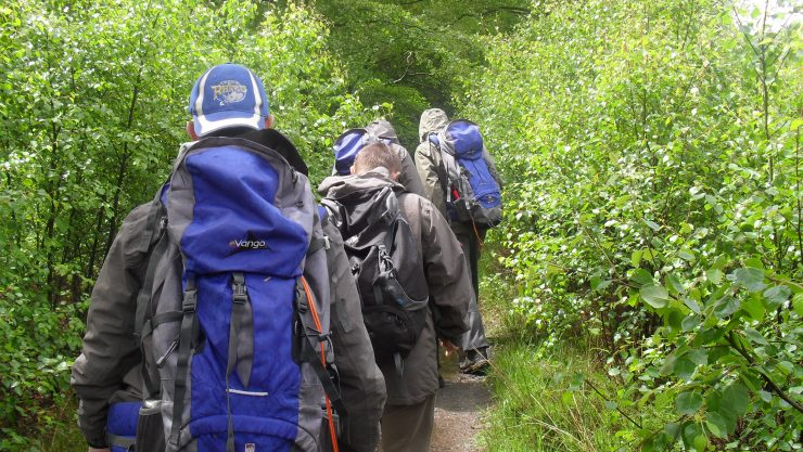 Students on a walk as part of a Duke of Edinburgh silver award