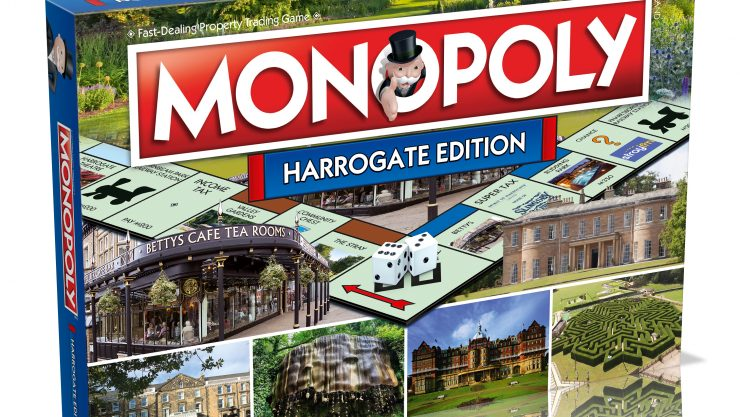 Harrogate Monopoly board game box