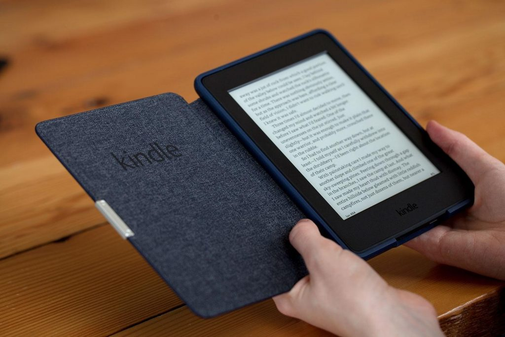 Photo of an Amazon Kindle