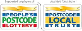 Logo of Peoples Postcode Lottery supports Henshaws Charity for the Blind in Manchester