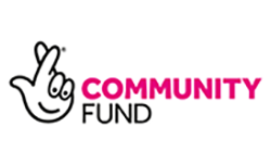 Logo of National Lottery community fund supports Henshaws Charity for the Blind in Manchester