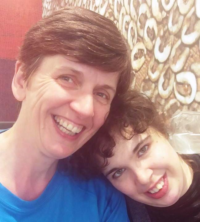 Photo of Katie and her mum Angela