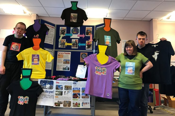 Photo of the young enterprise T-shirt stand