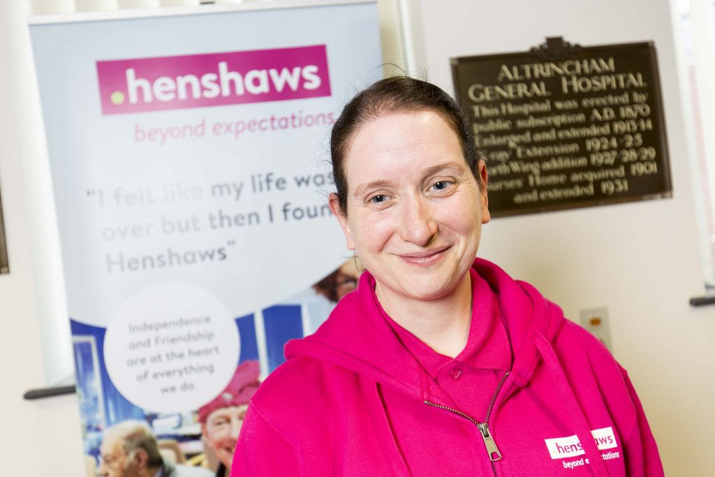 Henshaws Enablement Officer Gail CVI