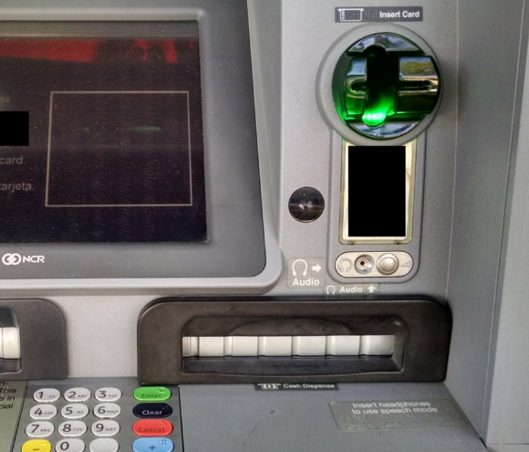 Close up of a cash machine