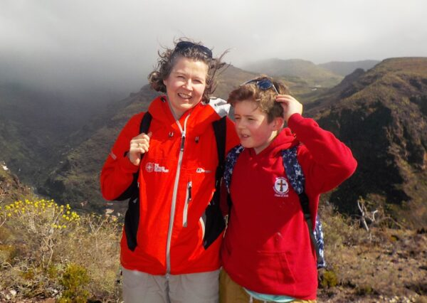 Travelling with sight loss and having children, Mum and daughter hill walking