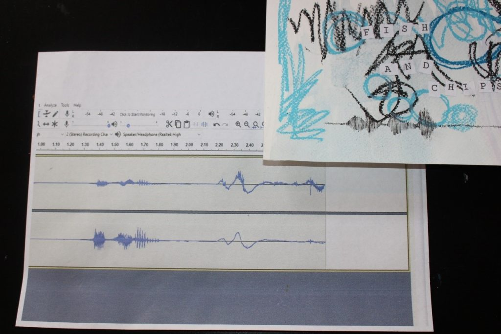Printing out sound patterns