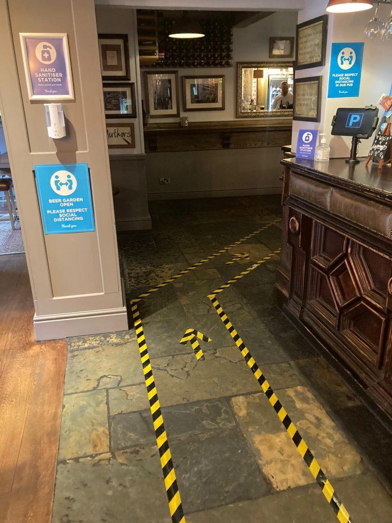 Pub post-lockdown
