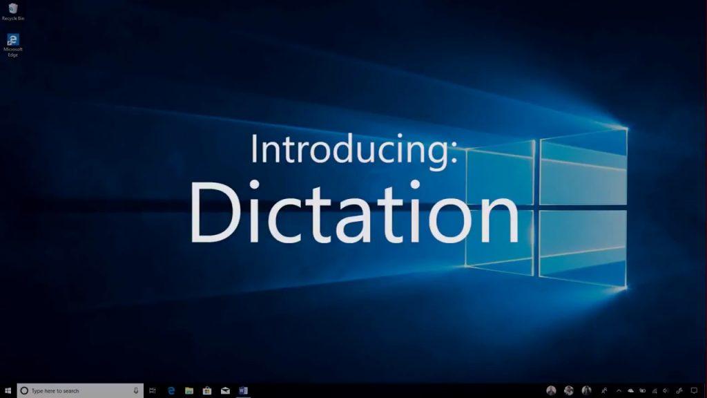 Windows 10 dictation