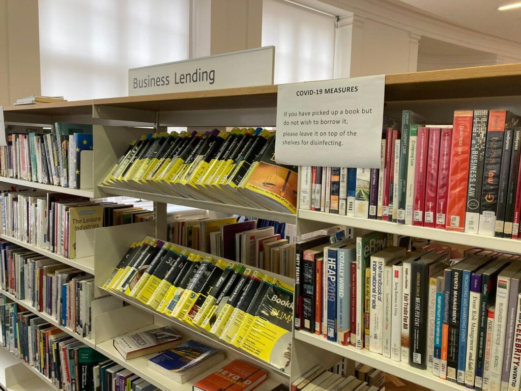 Manchester Central library books