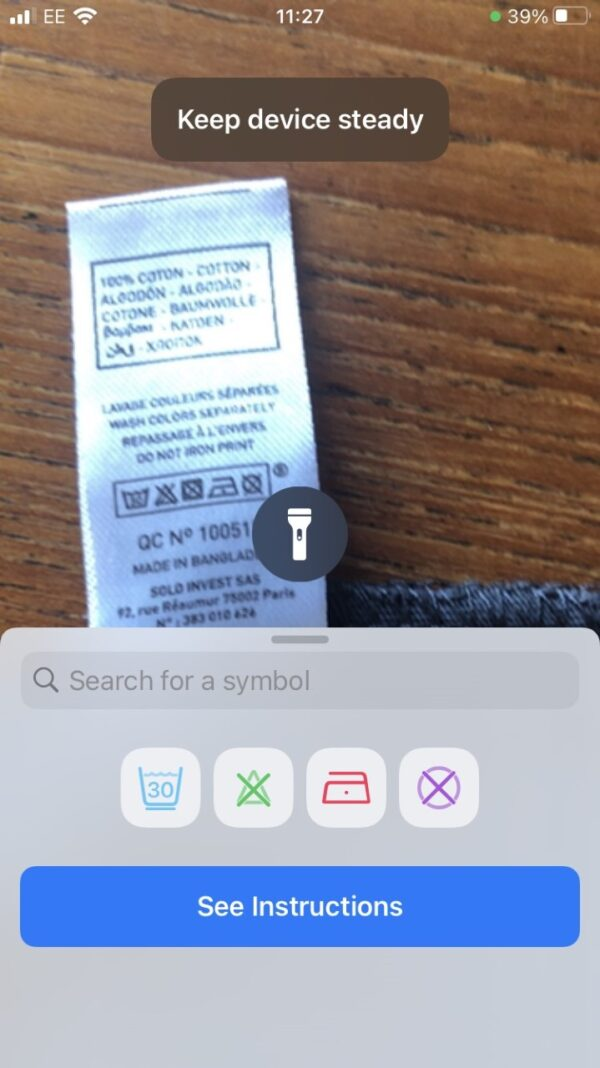 Laundry Lens app