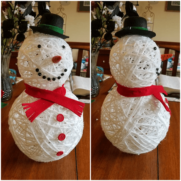 Snowman craft activity