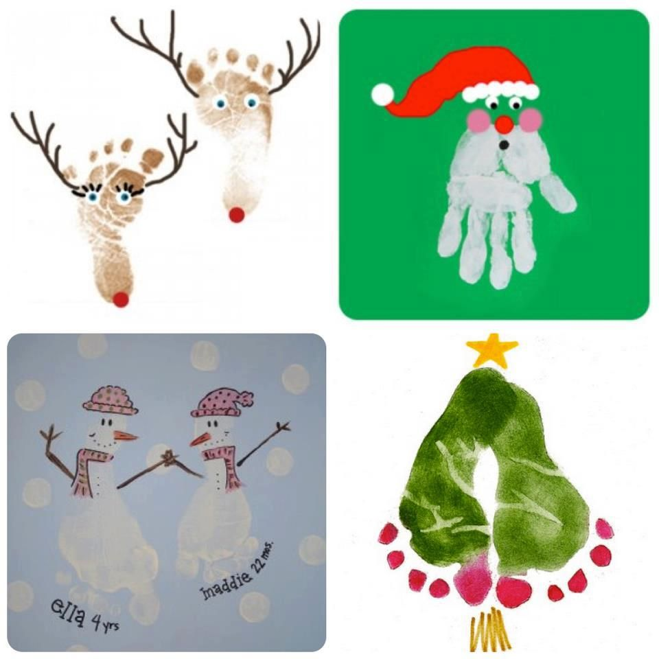 Festive images created using footprints