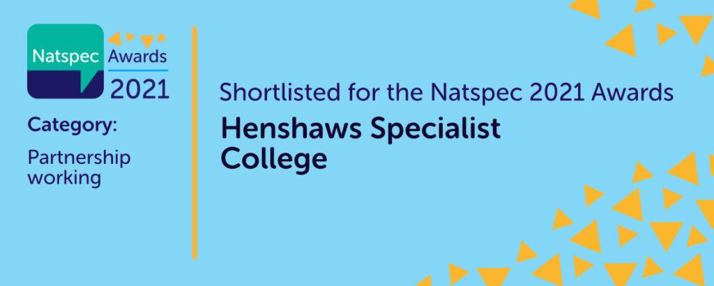 Shortlisted for the Natspec 2021 Awards Partnership Working